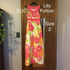 Lilly Pulitzer beaded floral maxi dress